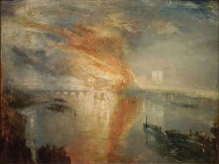 De in brand staande parlementsgebouwen, 16 oktober 1834 (1834-35) - William Turner